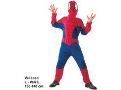 Dětský kostým na karneval Pavoučí hrdina 130 - 140 cm