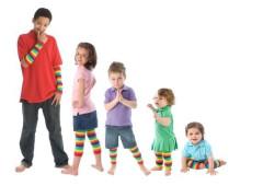 Dětské návleky na nožičky JEDNOBAREVNÉ