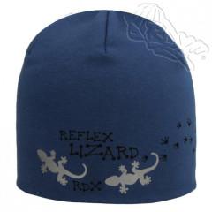 Bavlněná čepička dvouvrstvá s ještěrkou modrá RDX