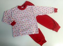Bavlněné pyžamo ČERVENÉ JAHŮDKY Vel. 86