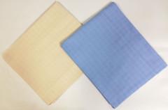 Sada bavlněných TETRA osušky 90x100 cm 2 ks - Modrá + natural