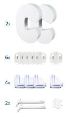 Bezpečnostní set - 6x ochrana zásuvek, 2x zámek na šuplík, 4x ochrana ostrých rohů, 2x och