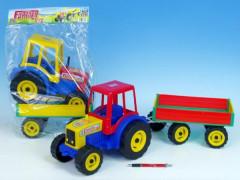 Traktor Farmer XXL s vlekem plast 69cm