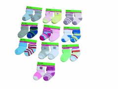 Kojenecké ponožky froté PD108 (0 - 6 měs) 2 páry Pidilidi