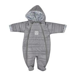 Zimní kojenecká kombinéza Koala Pumi kluk šedá