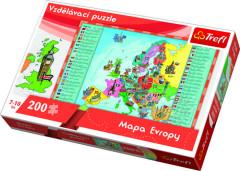 Puzzle Mapa Evropy 200 dílků