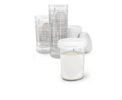 Skladovací pohárky 200 ml Suavinex 10 ks