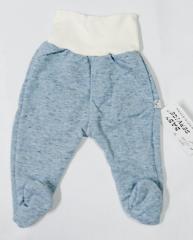 Teplejší polodupačky melírek modré Baby Service