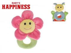 Chrastítko plyš Květinka Baby´s Happiness