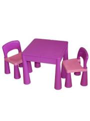Dětská sada stoleček a dvě židličky fialová