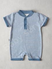 Overálek krátky rukáv modrý PRUH Baby Service vel. 56 - 74