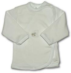 Kojenecká košilka zavinovací vel. 62 VYŠÍVANÁ (BÍLÁ)