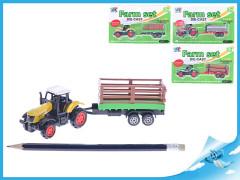 Traktor s vlečkou 16cm kov