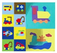 Pěnové puzzle dopravní prostředky 9 ks