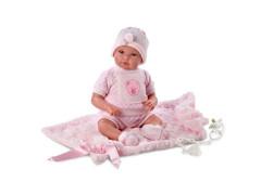Panenka - New born Llorens 36 cm holčička látkové tělo