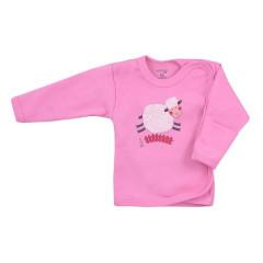 Kojenecká bavlněná košilka Koala Farm růžová