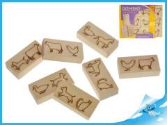 Domino dřevěné zvířátka 12ks 12m+