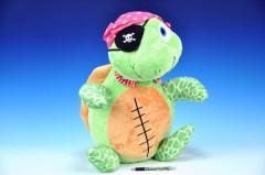 Plyšová stojící želva pirát 60 cm