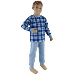 Bavlněné pyžamo tmavé modré kostky vel. 110
