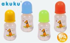 Láhev plastová s obrázky Akuku 125 ml bez BPA