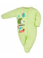 Kojenecký overal Bobas Fashion Ježek zelený