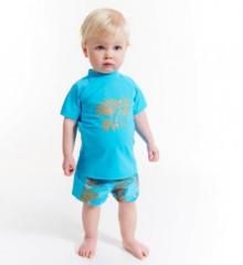 Plážové UV triko Rybička, krátký rukáv