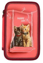 Školní pouzdro 2-patra Happy cats Emipo plněné