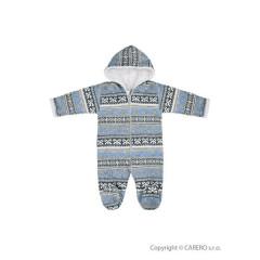 Zimní kojenecká kombinéza Baby Service Etnik zima šedo-modrá