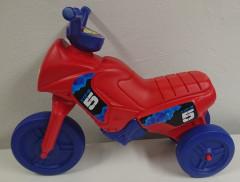 Odrážedlo Enduro menší červené + modré kola