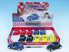 Auto Kinsmart Volkswagen Beetle classical kov 13cm na zpětné natažení