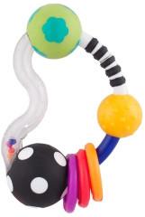 Kroužkové chrastítko s kuličkami Sassy 3 m+