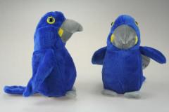Plyšový modrý papoušek