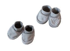 Kojenecké bavlněné capáčky Baby Service Hvězdičky a Proužky