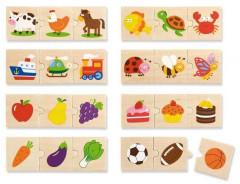 Dřevěné puzzle - třídění dle druhu Viga