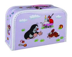 Dětský kufřík 30 cm Krteček a kočárek – fialový