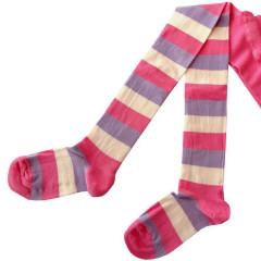 Dětské punčocháče Design Socks vel. 1 (12 - 24 měs) RŮŽOVÉ PROUŽKOVANÉ