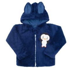 Zimní dětská mikina New Baby Penguin Tmavě modrá