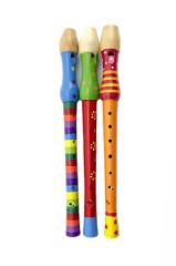 Flétna malovaná dřevo 33cm