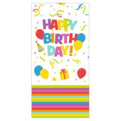 Ubrus papírový 120x180cm Happy Birthday