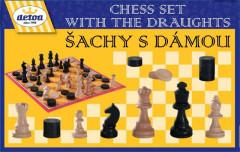Šachy s dámou dřevěné Detoa