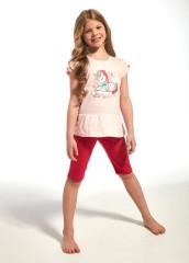 Cornette Pyžamo dívčí krátké Jednorožec
