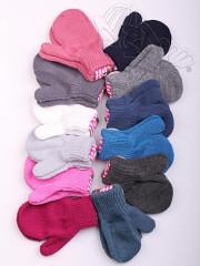 Zimní chlapecké palcové rukavičky pletené Vel. S (1-3 roky)