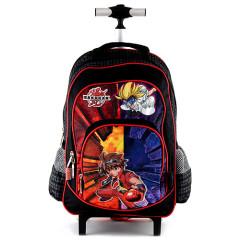 Školní batoh trolley Bakugan - Černo-červený