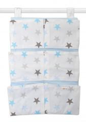 Kapsář 40 x 65 cm Baby Nellys Hvězdičky modrá + šedá