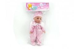 Panenka/miminko mrkací měkké tělo plast 35cm na baterie se zvukem v sáčku