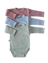 Celorozepínací body dl. rukáv s rukavičkami Růžová Baby Service