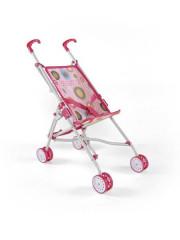 Dětský golfový kočárek pro panenky Milly Mally Julie růžovo-hnědý