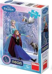 Svítící puzzle 100 dílků - Ledové království XL