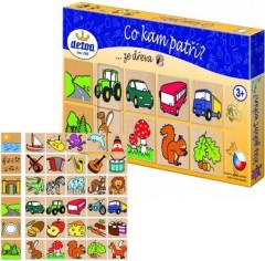 Co kam patří? 36 dřevěných kamenů v krabičce