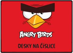 Desky na číslice ANGRY BIRDS